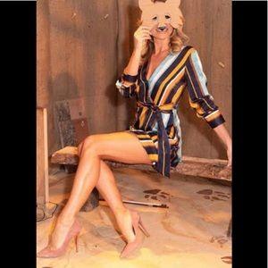 Zara Dresses - Zara Satin Striped Dress